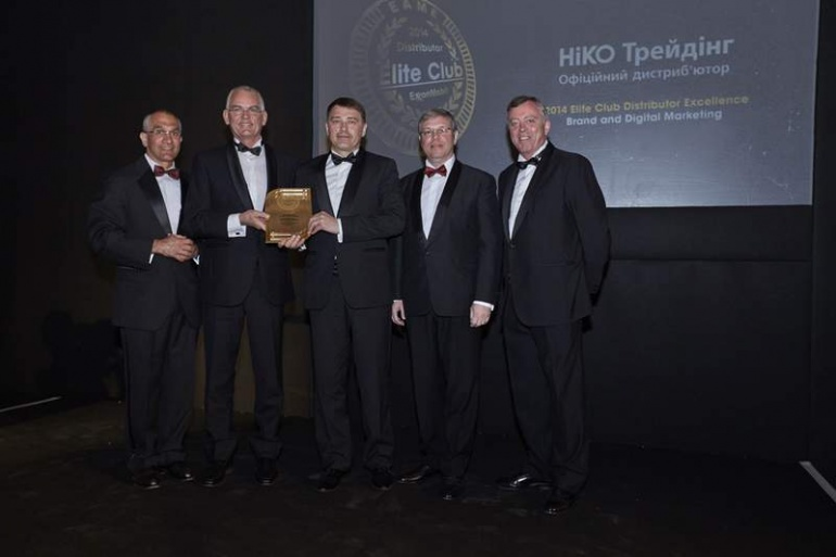 Компания «НИКО Трейдинг»  получила  престижную награду Elite Club 2014 Distributor Excellence